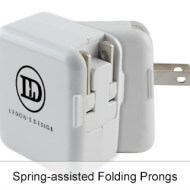 ChargeAll Promotional USB Wall Adapter - Spring Assist